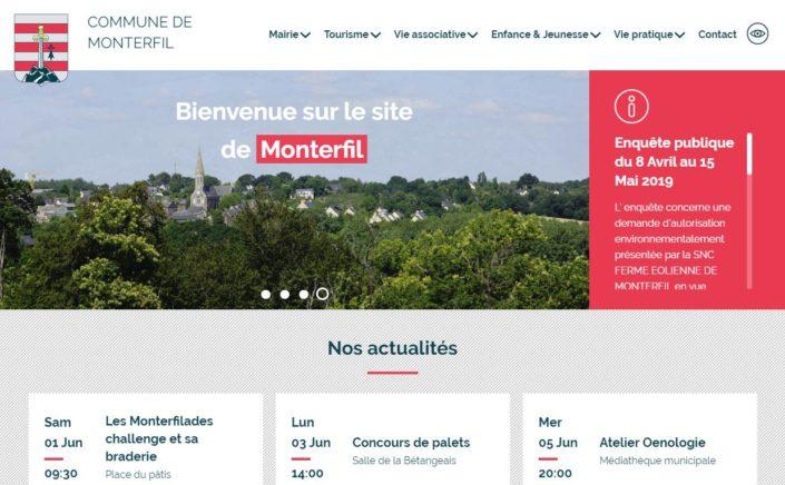 Aperçu du site de Monterfil